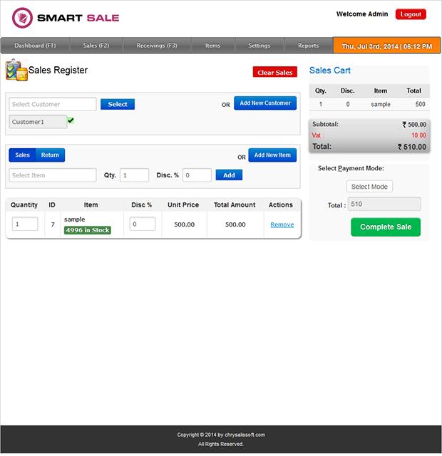 Smart Sales Sale Page